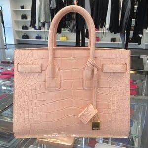 Saint Laurent Pink Croc Sac du Jour Bag - Spring 2014
