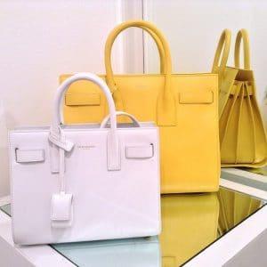 Saint Laurent Yellow Sac du Jour Bags - Spring 2014