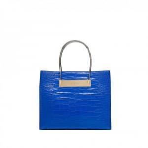 Balenciaga Blue Mini Wire Shopping Tote Bag - Fall Winter 2014