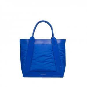 Balenciaga Blue Nylon Shopping Tote Bag - Fall Winter 2014