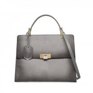 Balenciaga Calf Hair Grey Le Dix Tote Bag - Fall Winter 2014