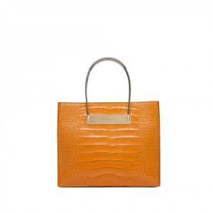Balenciaga Croc Orange Wire Shopping Tote Bag - Fall Winter 2014