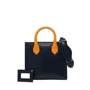 Balenciaga Orange with Black Base Padlock Tote Bag - Fall Winter 2014