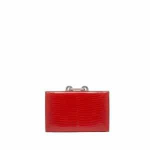 Balenciaga Red Croc Minaudiere Clutch - Fall Winter 2014