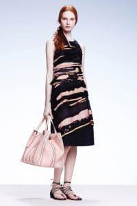 Bottega Veneta Beige Striped Tote Bag - Resort 2015