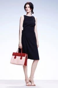 Bottega Veneta Beige/Red Tote Bag - Resort 2015