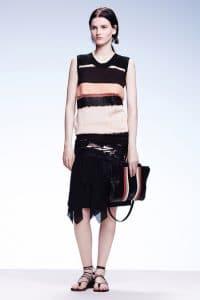 Bottega Veneta Black Multicolor Shoulder Bag - Resort 2015