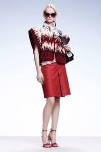 Bottega Veneta Black/White Shoulder Bag - Resort 2015
