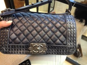 Chanel Aged Leather Boy Bag with Studs - Prefall 2014