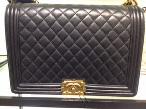Chanel Black Large Boy Bag with Gold Hardware - Prefall 2014