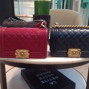 Chanel Boy with Gold Hardware Side by Side - Prefall 2014