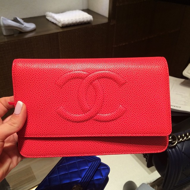 Chanel Boy Woc Clutch Bag Chanel Coral Caviar Woc Clutch
