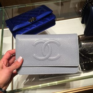 Chanel Light Blue Caviar WOC Clutch Bag - Spring 2014