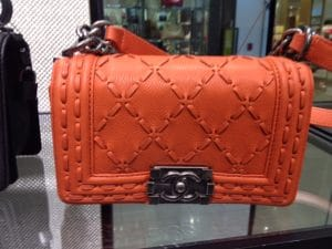 Chanel Orange Large Stitch Boy Bag - Prefall 2014