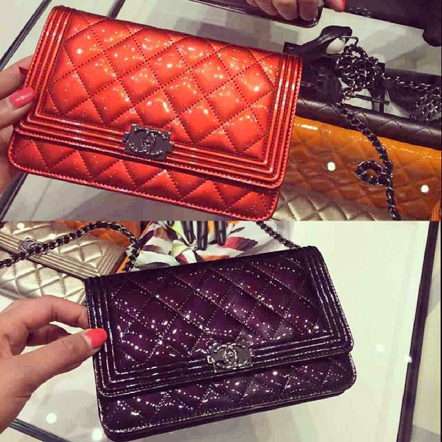 Chanel le Boy Woc Chanel Patent Boy Woc Bags