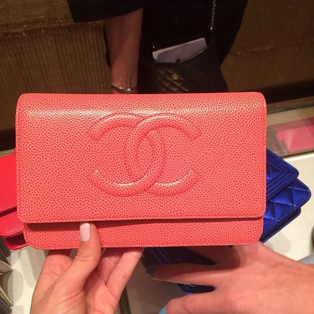 Chanel Clutch Bag Pink Chanel Pink Caviar Woc Clutch