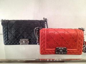 Chanel Red Large Stitch Boy Bag - Prefall 2014