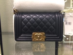 Chanel Small Boy Bag with Gold Hardware - Prefall 2014