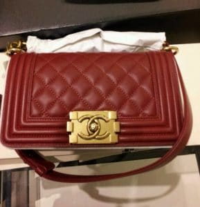 Chanel Small Red Boy Bag Gold Hardware - Prefall 2014