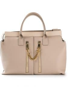 Chloe Beige Cate Tote Bag with Zippers - Spring 2014 - 2