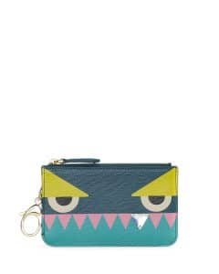 Fendi Aqua Monster Diamond-Tooth Coin Pouch