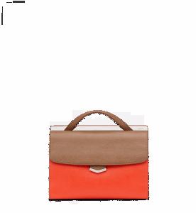 Fendi Barley/Poppy Red Demi Jour Bag