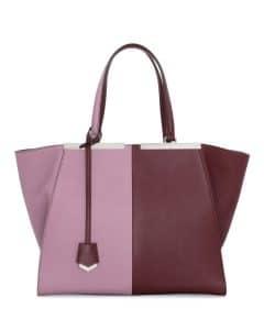 Fendi Bordeaux/Lilac 3Jours Tote Bag