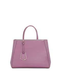 Fendi Lilac 2Jours Medium Tote Bag
