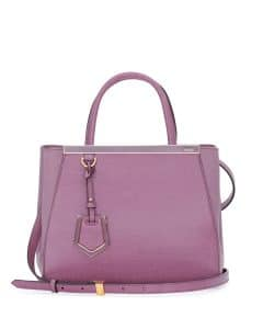 Fendi Lilac 2Jours Mini Tote Bag