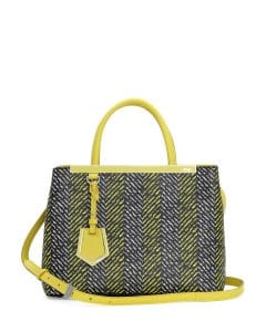 Fendi Yellow Printed 2Jours Mini Tote Bag