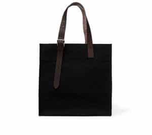 Hermes Black Etriviere Shopping Bag