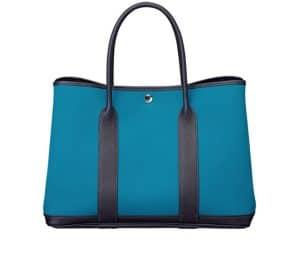 Hermes Blue Garden Party Tote Bag - Spring 2014
