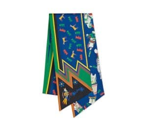 Hermes Blue Kachinas Maxi Twilly Scarf