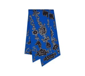 Hermes Blue Serio Ludere Maxi Twilly Scarf