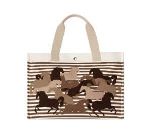 Hermes Ecru Chevaux En Camouflage Beach Bag