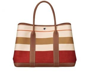 Hermes Garden Party Tote Bag with Stripes - Spring 2014