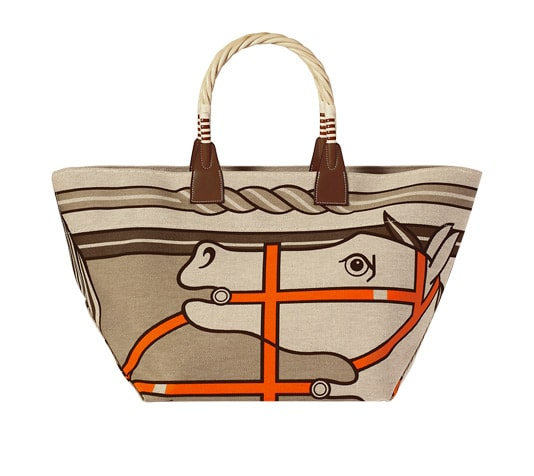 f1b9f380c0f4 Hermes Canvas Tote Bags for Spring   Summer 2014