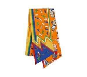 Hermes Orange Kachinas Maxi Twilly Scarf