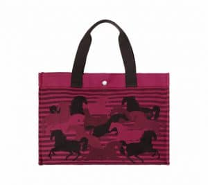 Hermes Pink Chevaux En Camouflage Beach Bag