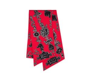 Hermes Red Serio Ludere Maxi Twilly Scarf