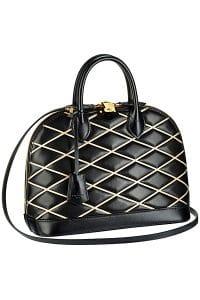 Louis Vuitton Black Malletage Alma PM Bag - Fall 2014 - 2