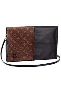 Louis Vuitton Black Monogram Canvas Flip Flap Bag - Fall 2014