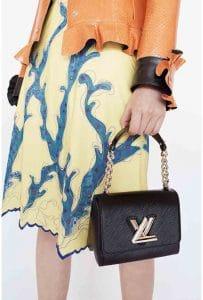 Louis Vuitton Black Twist Malletage Bag 2 - Cruise 2015