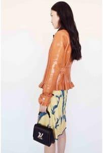 Louis Vuitton Black Twist Malletage Bag - Cruise 2015