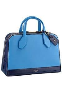 Louis Vuitton Blue Dora Caivre MM Bag - Fall 2014
