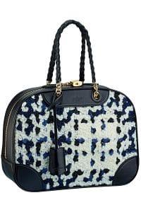 Louis Vuitton Blue Tweed Bowling Bag - Fall 2014