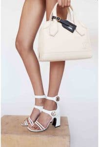 Louis Vuitton Ivory Calf Leather Top Handle Bag 2 - Cruise 2015