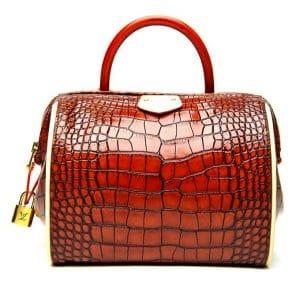Louis Vuitton Red Crocodile Doc PM Bag