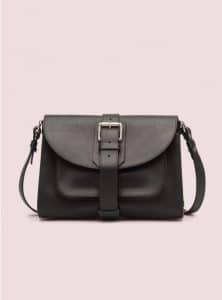 Proenza Schouler Black Buckle Bag Cross Body Bag - Pre-Fall 2014