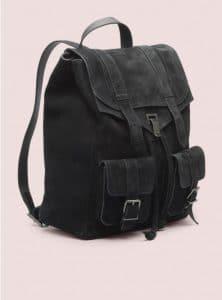 Proenza Schouler Black PS1 Backpack Suede Bag - Pre-Fall 2014